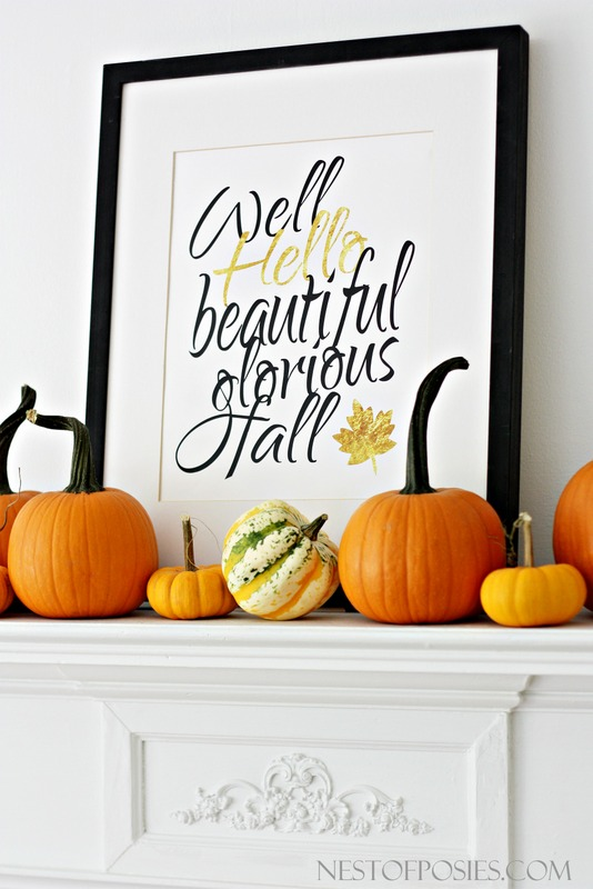 DIY fall ideas - decorate your home with free fall printable signs