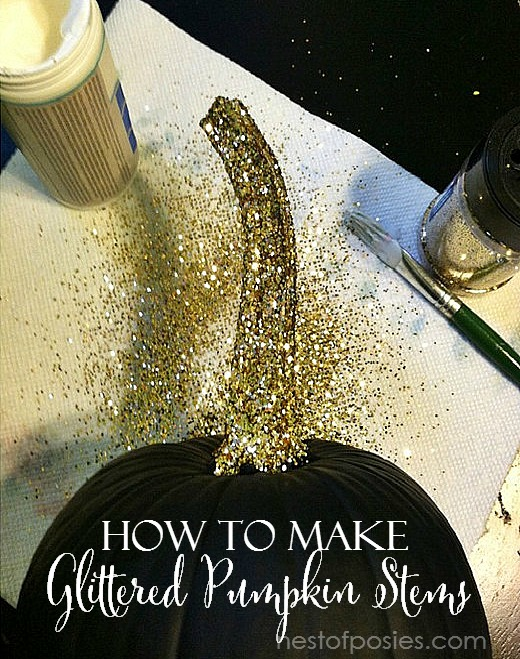 How to make Glittered Pumpkin Stems