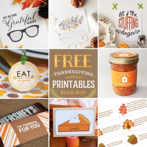 Free Thanksgiving Printable Blog Hop