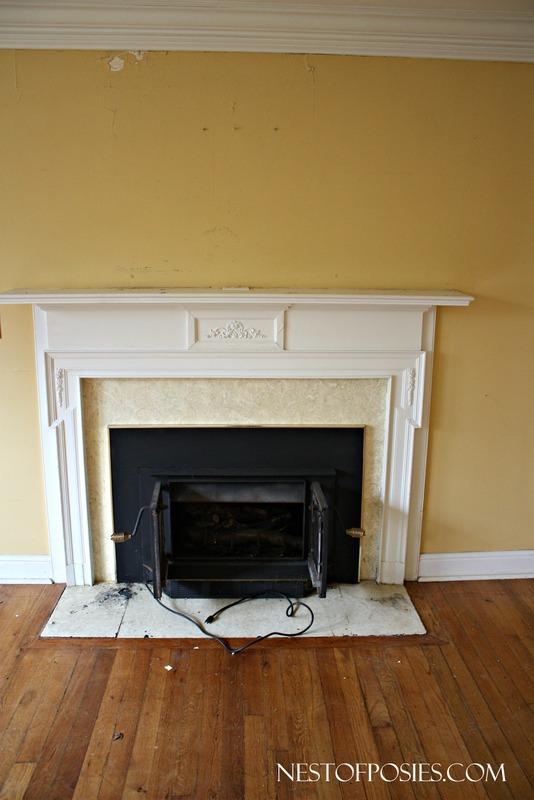 Woodburning Insert Fireplace BEFORE