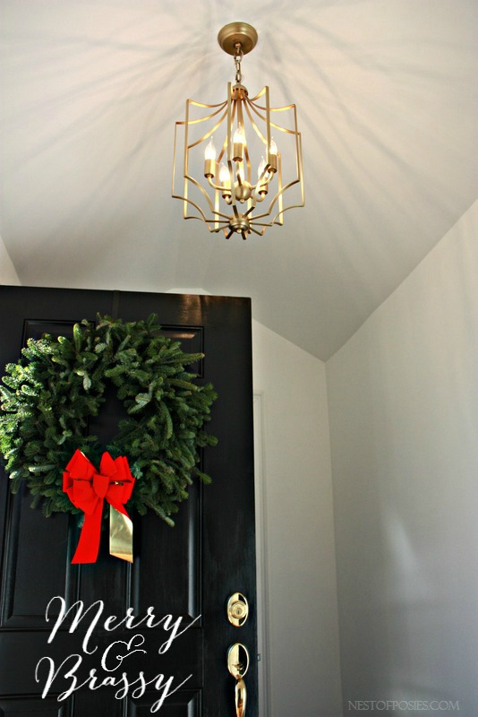 The Perfect Foyer Pendant Light Fixture and a mini Christmas Home Tour