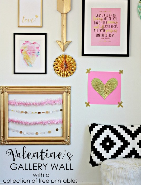 A Collection of FREE Valentine's Printables.  Plus DIY crafts ideas you can make in minutes