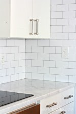 White Subway Tile With Silver Grout