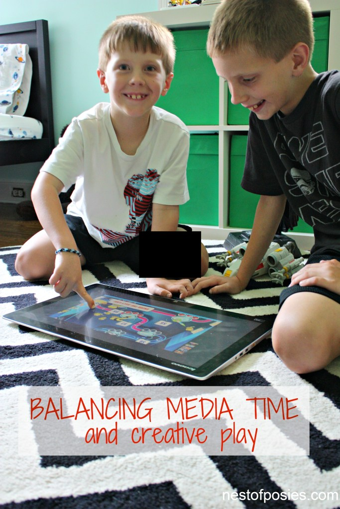 Balancing Media Time and creative play during the Summer with kids