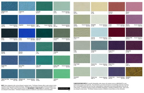 Brewer Stools #2042L Assistantu0027s Stool - Left Body Support - stool color chart