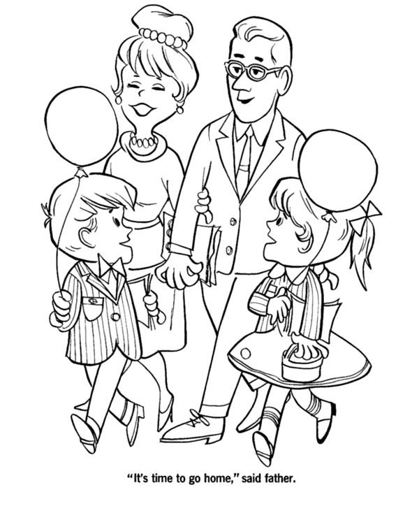 Big Family Colouring Pages SaveEnlarge