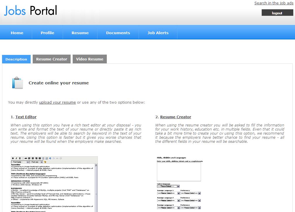 resume upload php script