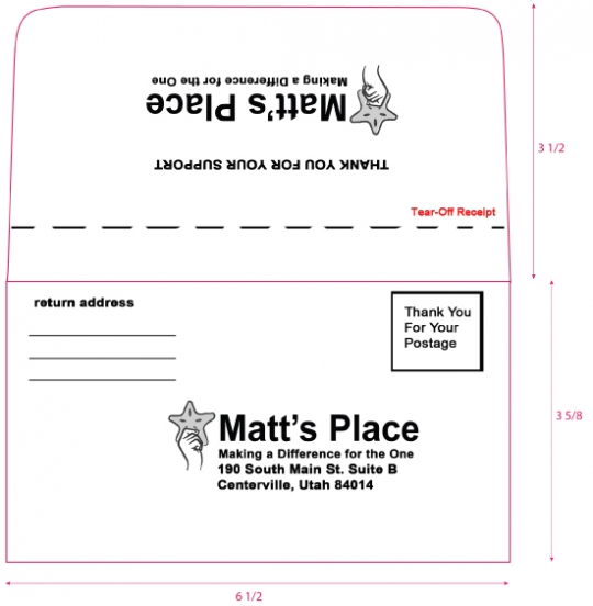 6-3/4 Remittance Envelope with Perforation and Inside Tint