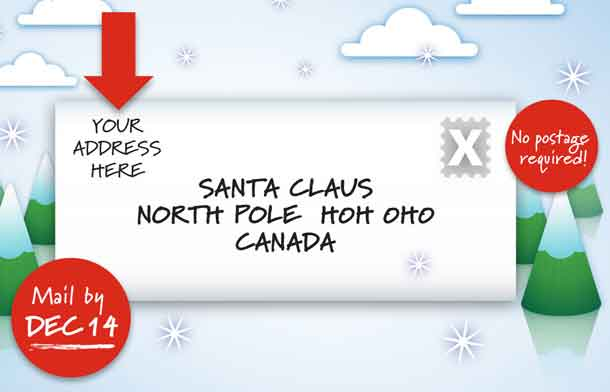 NetNewsLedger - H0H 0H0 - Get Those Letters to Santa Claus