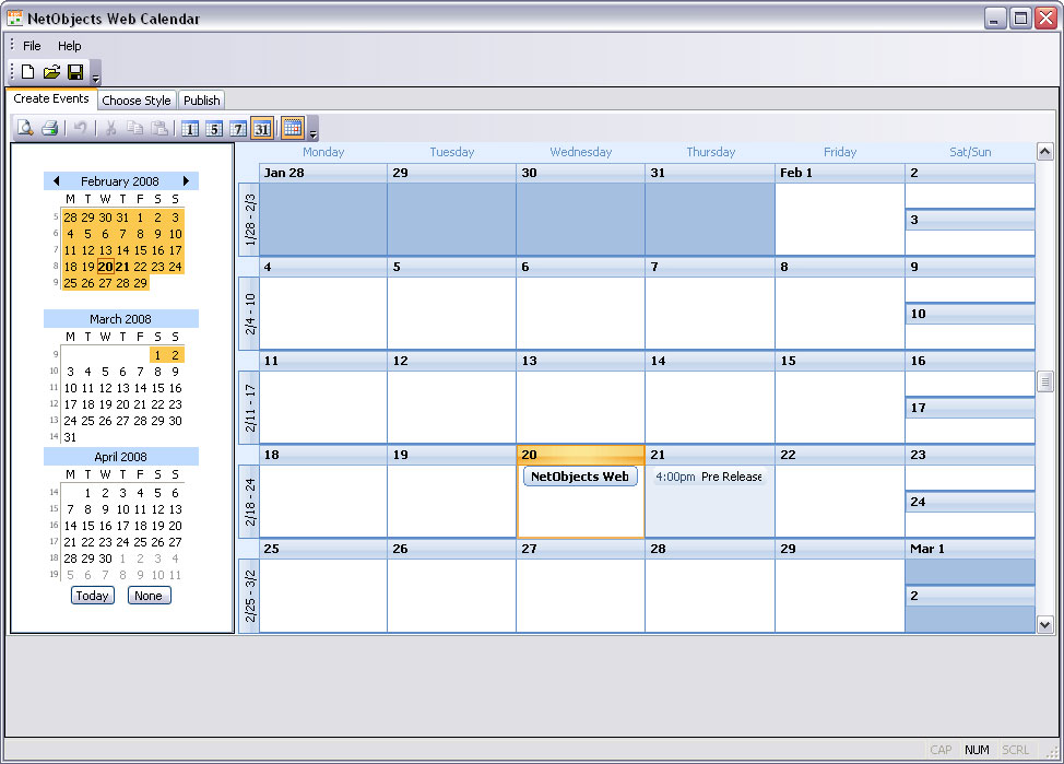 Freware  shareware web calendar downloads
