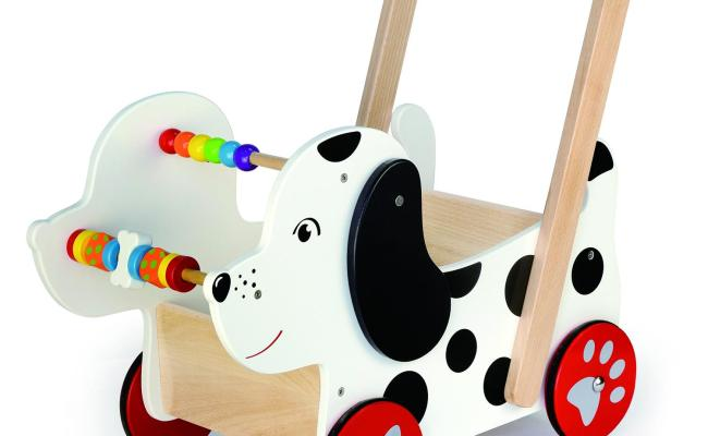 Wooden Happy Doggy Baby Walker Childrens Toddlers Wood