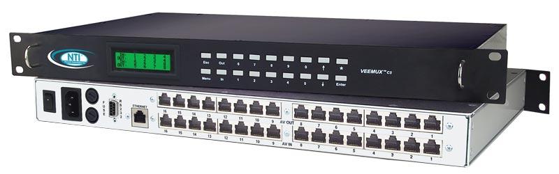 VGA Video Audio Matrix Switch CAT5 Remote Monitors Router RJ45