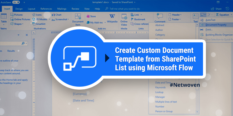 Create Custom Document Template from SharePoint List using Microsoft