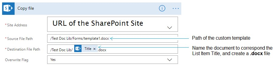 Create Custom Document Template from SharePoint List using Microsoft - sharepoint list template