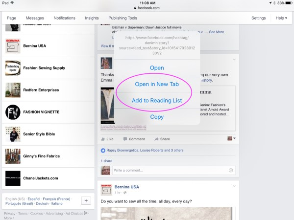 Number One Tip to Save, Bookmark, Facebook and Web Pages