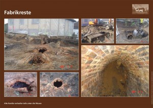 Schautafel: Fabrikreste und alte Kanäle