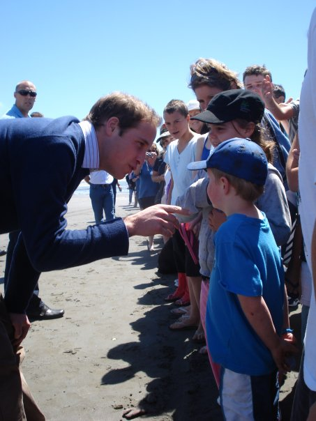 Prinz William besucht die Kapiti Coast