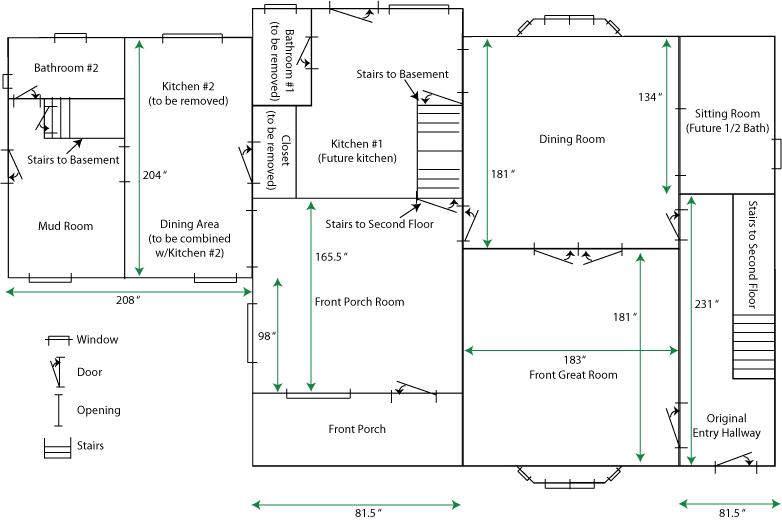 House Renovations Blog Niles House Floorplan First Floor
