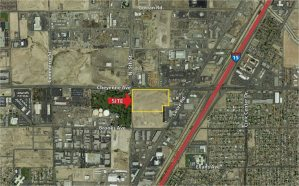 Colliers International – Las Vegas announced the finalization of a sale to Mendenhall Dynasty Trust 2012 for an approximately 18.94-acre vacant land.