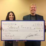 Nevada State Bank Presents Check to Street Teens