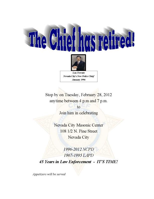 Lou Trovato Retirement Party Feb 28th Nevada City California - retirement party flyer template