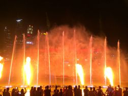 Wasser- und Licht-Show Marina Bay Sands