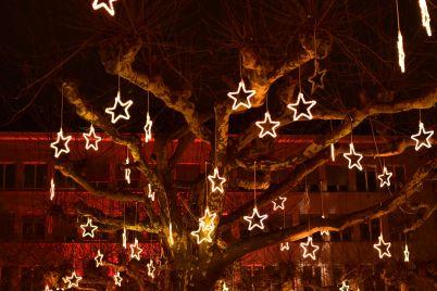 Weihnachtsstimmung auf dem Werdmühleplatz in Zürich