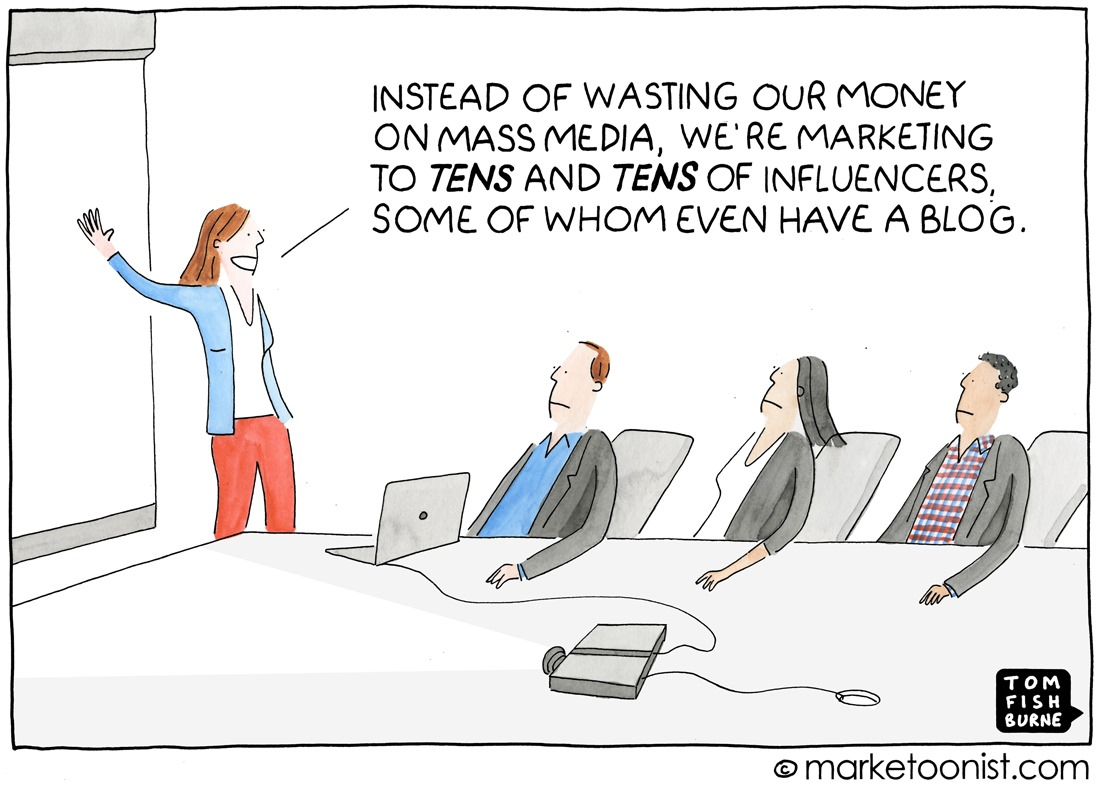 Tens and tens of influencers...