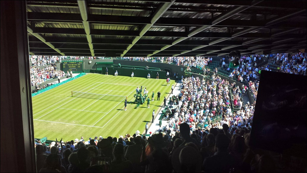 2015 Wimbledon - Court No 1 bird's eye view