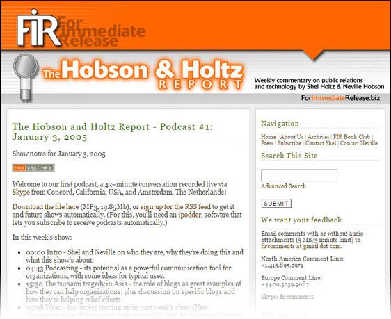 FIR episode 1: January 3, 2005