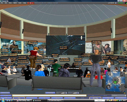 Die Hard 4 virtual press event