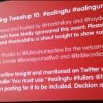 Voices from the Ealing tweetup
