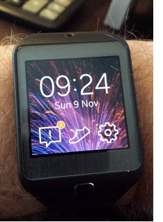 Samsung Gear 2 Neo home screen