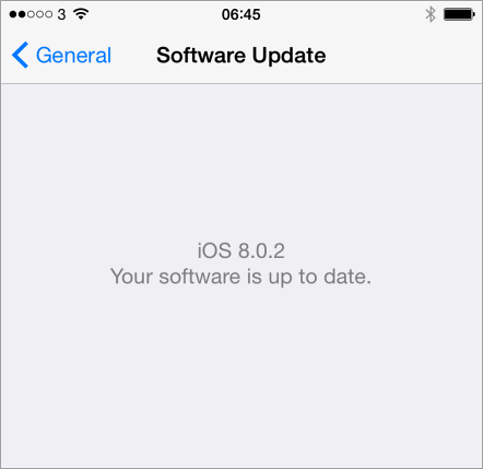 iOS 8.0.2 up to date