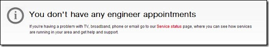 You don't have any engineer appointments