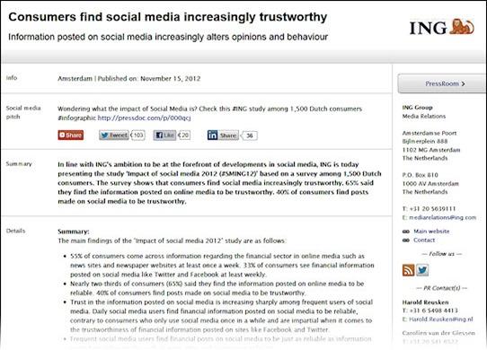 ING social media press release