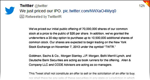 We just priced our IPO...
