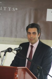 Vice President of Range Developments, Mohammed Asaria  speaking at the ceremony on Monday.