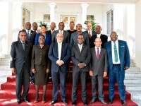 OECS Heads of Government (Prime Minister Dr. the Honourable Timothy Harris is front row, far right)
