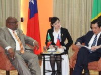 PM Harris with President Ma at bi-lateral meeting on March 16th, 2016 (photo courtesy of the Government Press Office in Belize. )