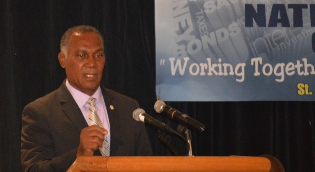 Premier Amory at Wednesday's National Consultation on the Economy