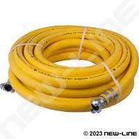 HD Yellow Air Jackhammer Bull Hose Assemblies
