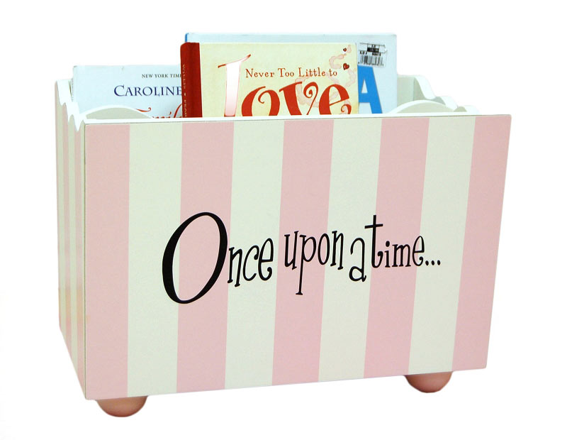 Wooden Book Holder Pink Book Holder Nursery Book Holder