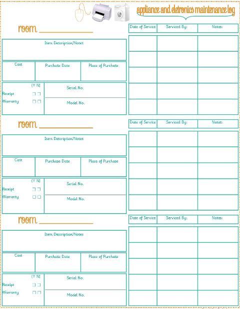Home Management Binder + Home Inventory {3 printables} + Last