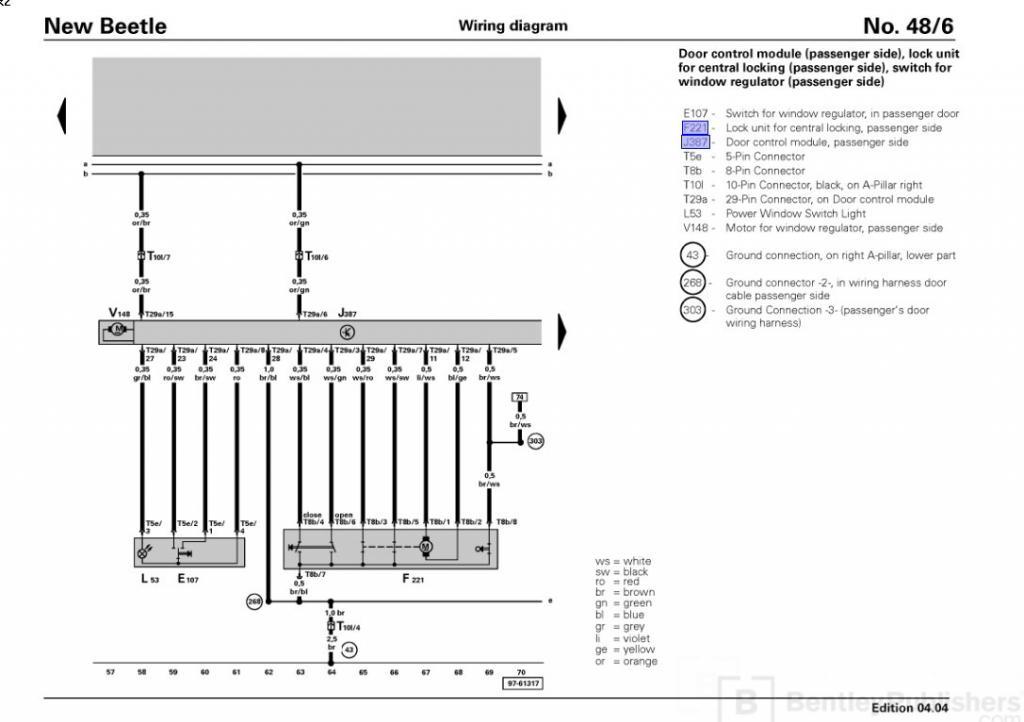 Vw Beetle Door Lock Wiring Diagram Online Wiring Diagram