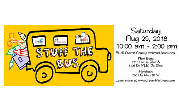 Craven County Partners In Education Announces Stuff the Bus Event