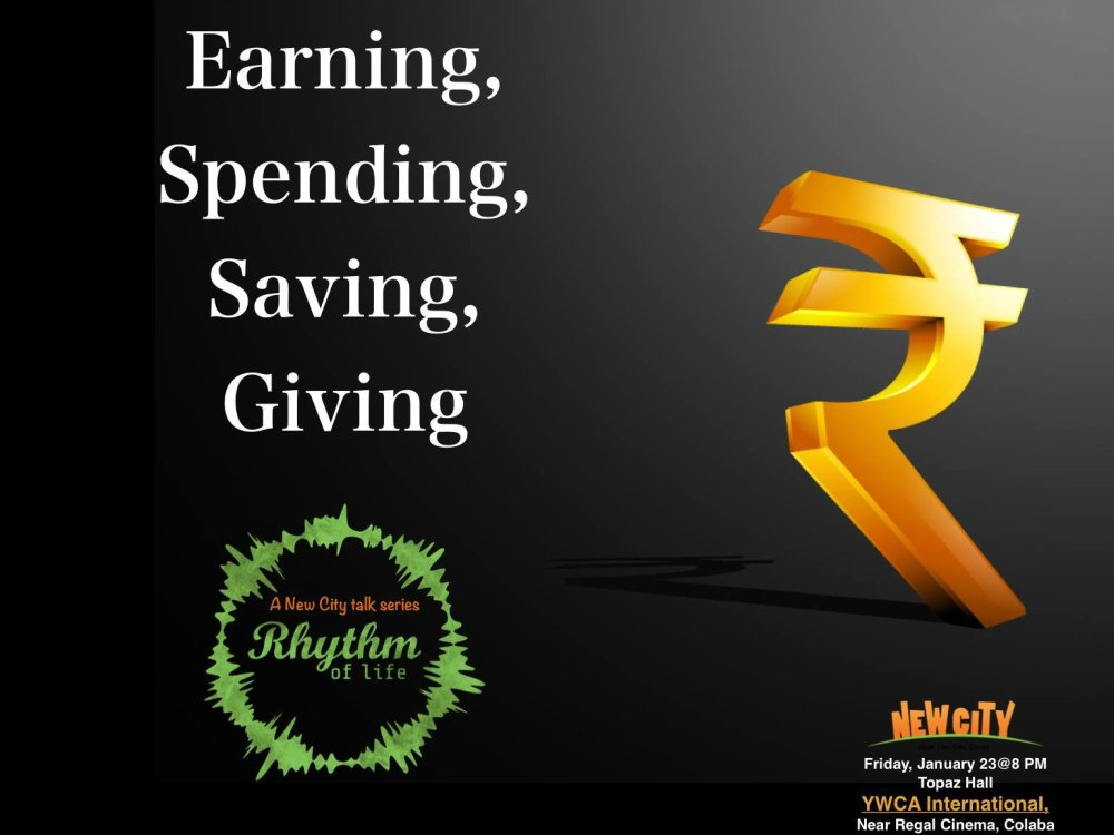 Earning, Spending, Saving, Giving Image