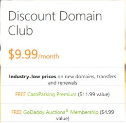 godaddy-discount-domain-club-pricing