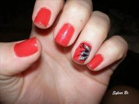 16 Red And Silver Nail Designs Images - Red Black Silver ...