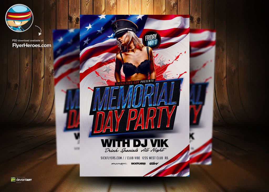 18 Memorial Design Template PSD Images - Memorial Day Flyer Template